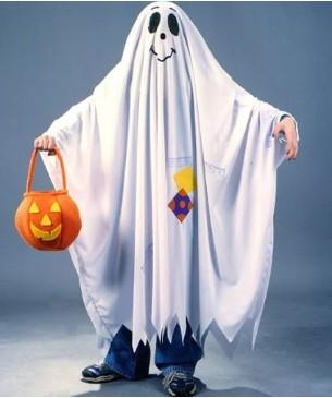 Костюм привидения своими руками для ребёнка из белой ткани
