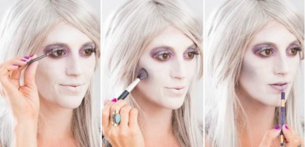 грим и макияж призрака: поэтапное нанесение