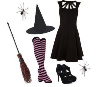 Костюм ведьмы своими руками на Хэллоуин, на Новый Год ... - photo#41