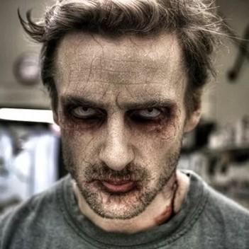 грим зомби (оживший мертвец) для мужчин