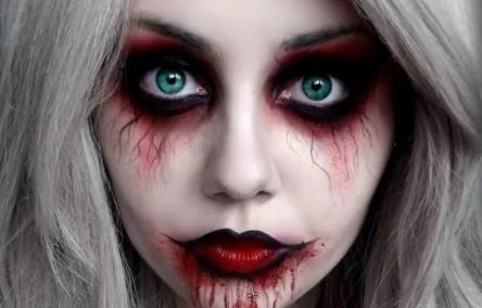 грим на хэллоуин: кровь из глаз и рта