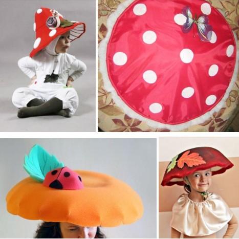 шляпка гриба своими руками: мухомор, лисичка
