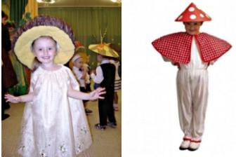 пелерина для костюма гриба