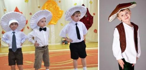 комплект костюма гриба