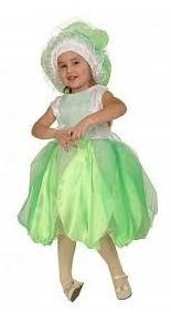 костюм капусты с пышным платьем и шапочкой