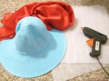 как сделать шляпу гриба клеевым пистолетом