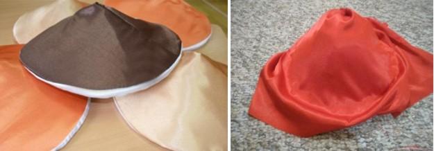 процесс изготовления шляпы гриба