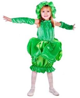 костюм капусты с зелёными перчатками