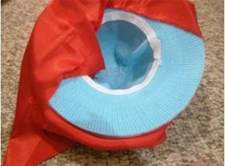 шляпа гриба из обычной шляпки