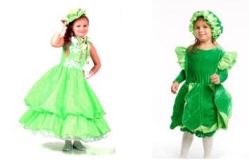 костюм капусты для девочки
