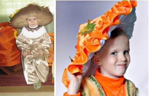 варианты детских костюмов гриба