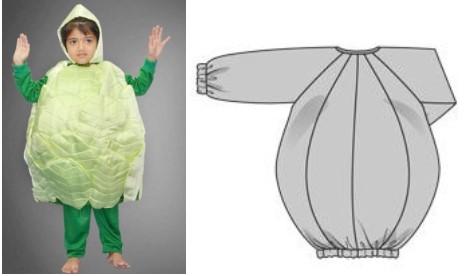 выкройка костюма капусты