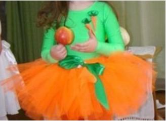 костюм морковки для девочки: юбка