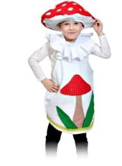 детский костюм мухомора с аппликацией