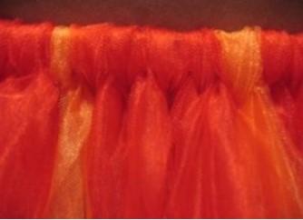 оранжевая юбка из фатина своими руками