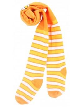 оранжевые полосатые чулки или колготки для ребёнка
