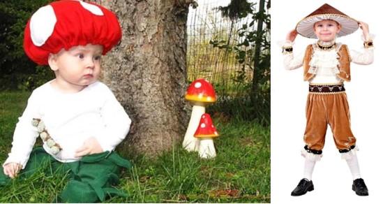 костюм мухомора и белого гриба для ребёнка