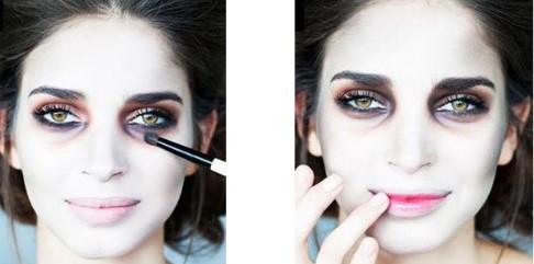 макияж для глаз и губ вампира
