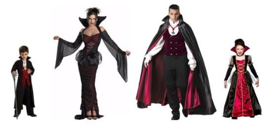 Варианты костюма вампира для всей семьи