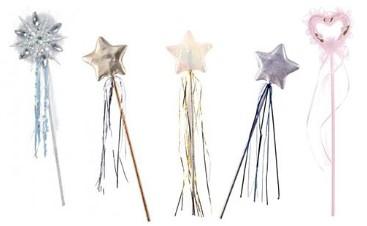 5 волшебных палочек с ленточками