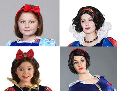 4 лица на белом и сером фоне: 2 девочки и 2 женщины