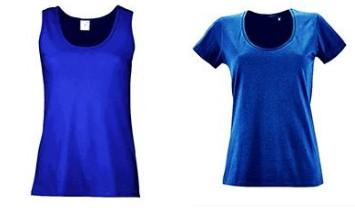 Синие майка и футболка