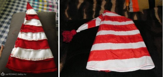 Полосатый колпак для костюма Буратино