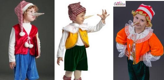 Варианты костюма Буратино для мальчиков