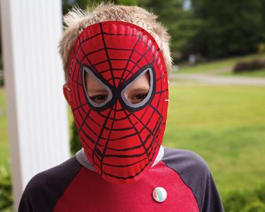 Маска из бумаги для костюма Человека-паука