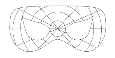 Выкройка маски для костюма Человека-паука