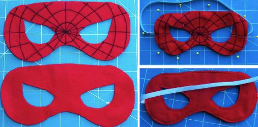 Изготовление фетровой маски для костюма Человека-паука