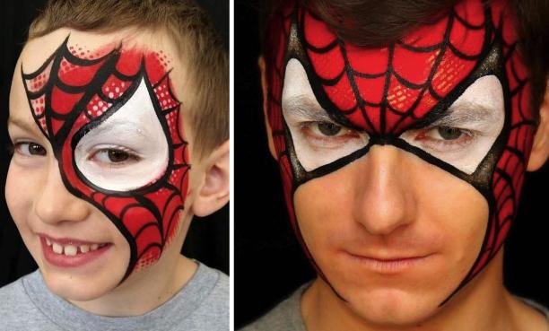 Варианты грима для костюма Человека-паука