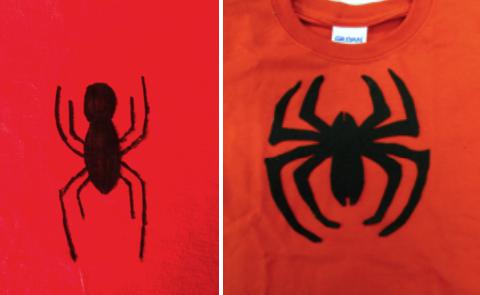 Эмблема паука для костюма Человека-паука