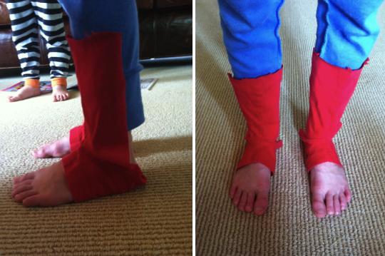 Имитация обуви для костюма Человека-паука