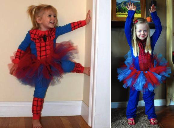 Костюм Человека-паука для девочки