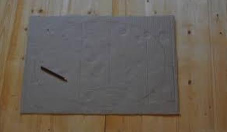 костюм огурца из картона: заготовка