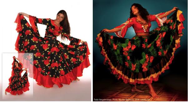 расцветка костюма цыганки