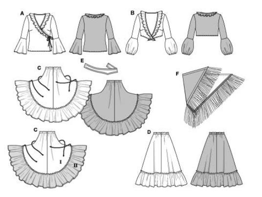 рисунок костюма цыганки