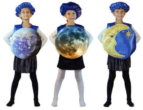 Костюмы планет для ребенка на День Космонавтики