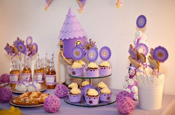 Украшение праздничного стола на день рождения ребенка