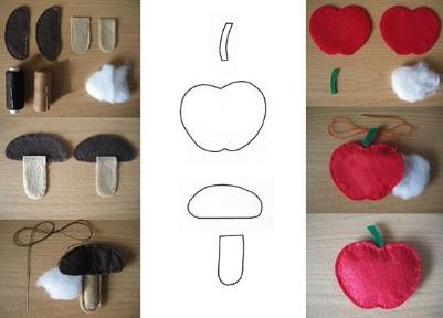 фотоинструкция изготовления гриба и яблока