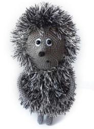 Серый ёжик-игрушка в полный рост