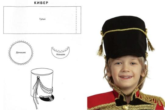Кивер: схема и фото на ребенке