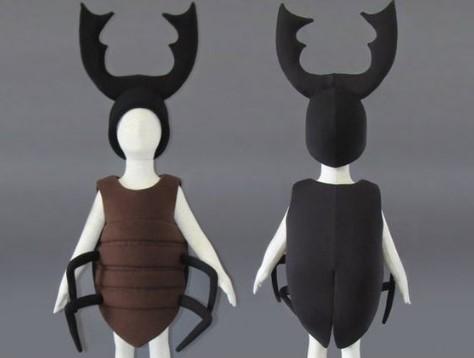 Костюм жука с рогами для ребёнка чёрно-коричневый