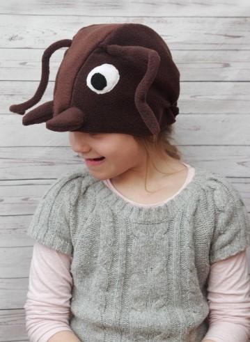 Шапочка для костюма жука детская с глазками
