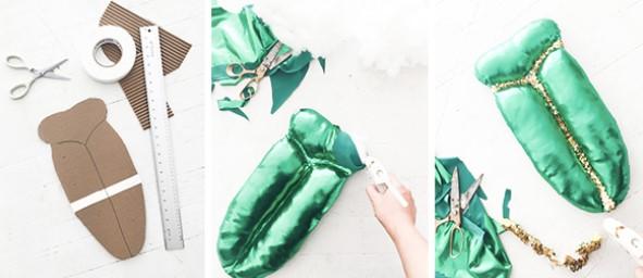 Выкройка панциря к костюму жука для малышей