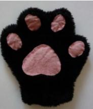 большая пушистая перчатка с кошачьими подушечками