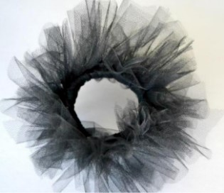 черный тюль кружочком