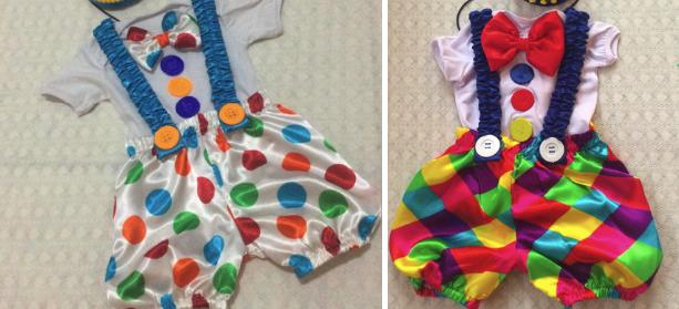 Костюмы клоуна для мальчика с бантом, шортами и подтяжками