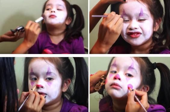Как наложить грим для детского костюма клоуна